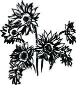 Sunflowers — Vector de stock