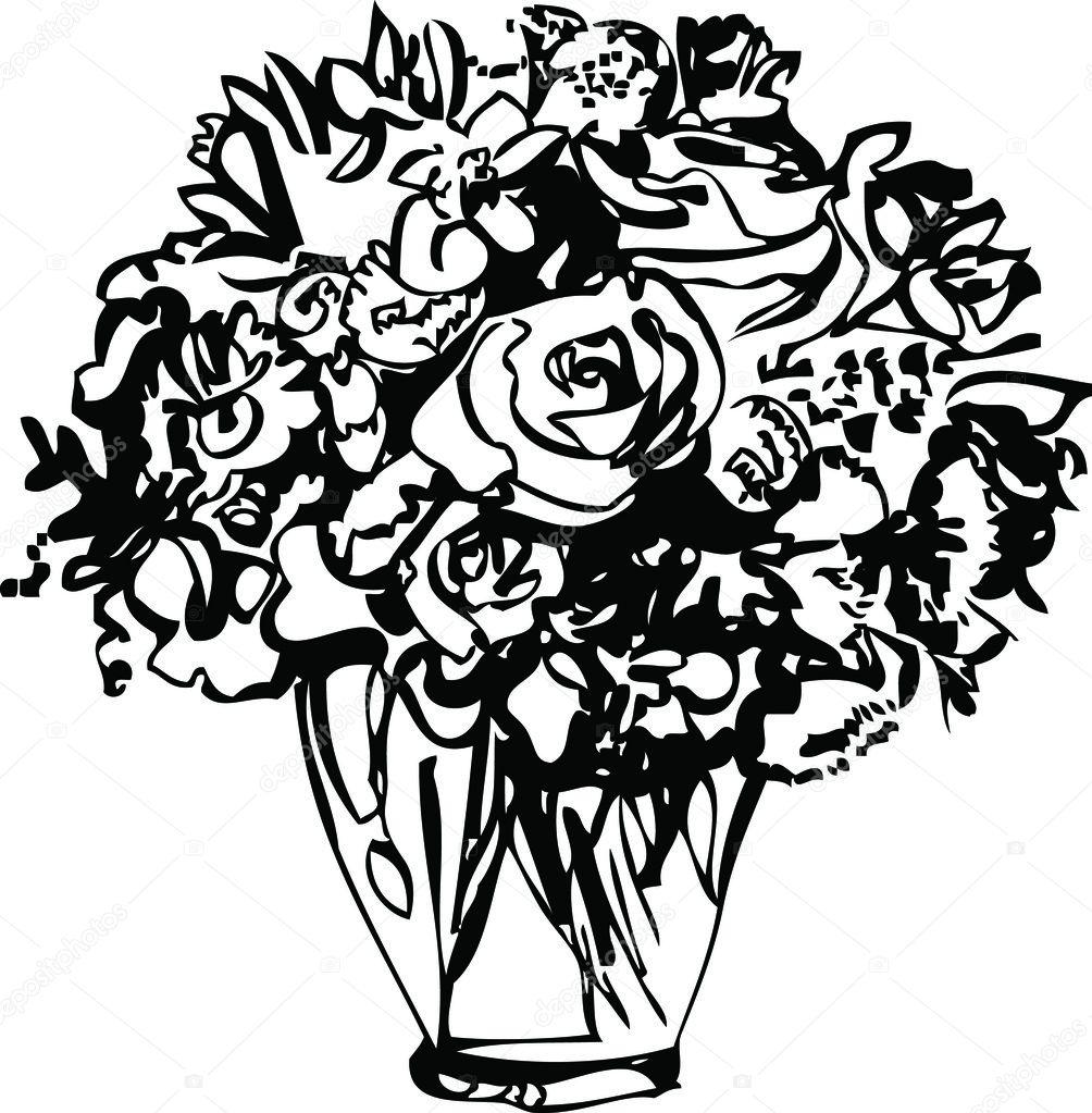 Amazon.com: White Roses in Blue Vase by Fernie Parker Taite
