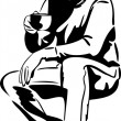 Man with a cup of tea drinkers - Image vectorielle