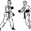 Karate Kyokushinkai sketch martial arts and combative sports - ベクター素材ストック