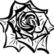 Soda sketch of a flower resembling a rose — Stockvectorbeeld