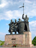 Monument to the Defenders of Chernigiv, Ukraine — Stock Photo