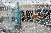 Cracked glass — Stock fotografie