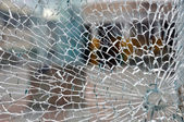 Cracked glass — Stock Photo