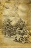 Winter retro photo — Stock Photo