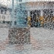 Cracked glass - Foto Stock