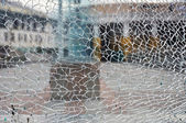 Cracked glass — 图库照片