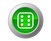 Dice button — Stock Photo