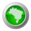 Map of Brazil button — Stock Photo