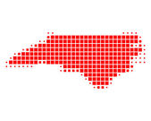 Detailed and accurate illustration of map of North Carolina — Stock Photo