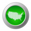Map of USA button — Stock Photo