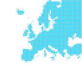карта европы — Стоковое фото