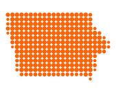 Map of Iowa — Stock Photo