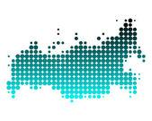Ilustração detalhada e exata de mapa da rússia — Foto Stock