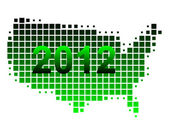 Map of USA 2012 — Stock Photo