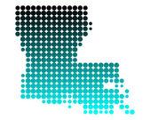 Mapa da louisiana — Fotografia Stock
