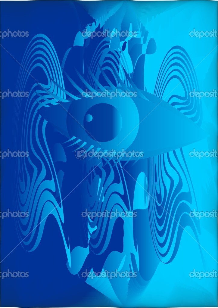 Abstract texture with the image of the eye.  Stock Vector #6819710