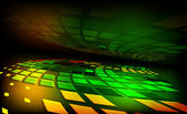 Oberfläche mit grünen und gelben quadrate — Stockvektor