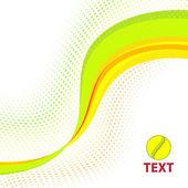Bright color wave — Stock Vector