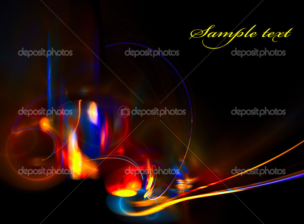 Bright color abstraction on black background — Stock Photo #7143826