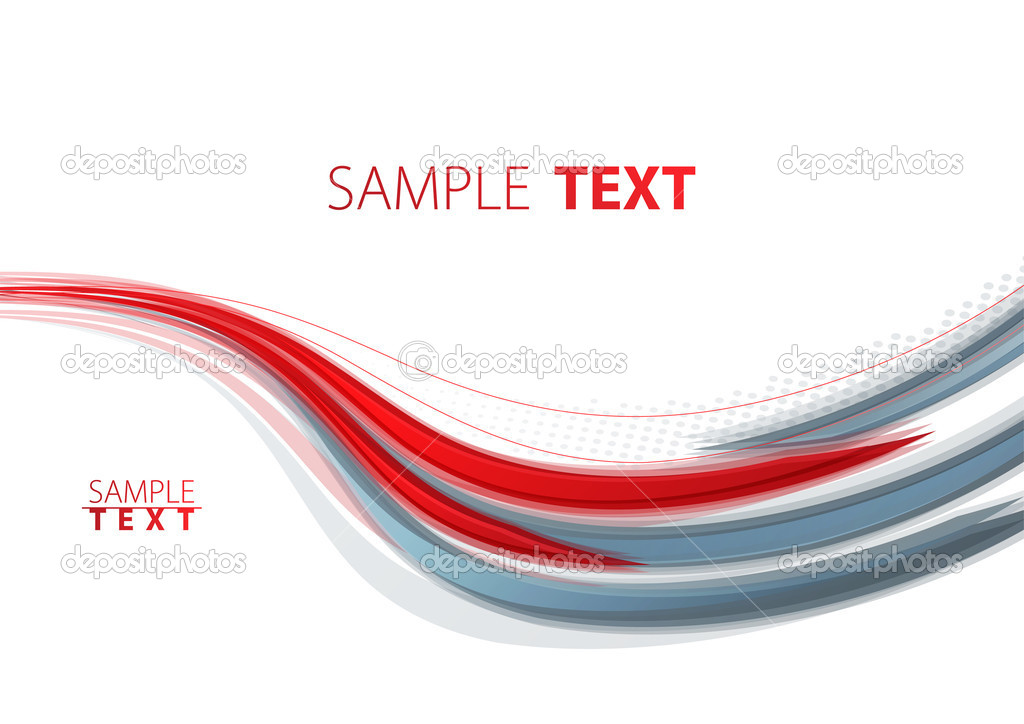 Abstract red and gray template. Vector — Stock Vector #7589321