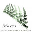 2012 - year of the Black Dragon — Stock Photo