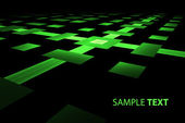 3D luminescent green surface — Стоковое фото