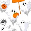 Set of cute ghosts - Stock Vector