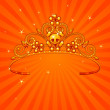 Halloween Princess Crown — Stock Vector