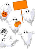 Set of cute ghosts — Stock Vector