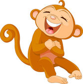 Laughing monkey — Stock Vector