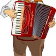 Stock Vector: Oktoberfest Accordion Player