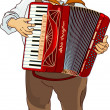 Oktoberfest Accordion Player — Imagen vectorial
