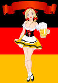 Oktoberfest Celebration Background — Stock Vector