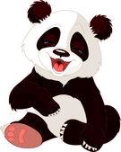 Baby Panda laughing — Stock Vector