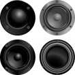 Vector de stock : Sound speakers