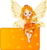 Fairy plaats kaartje — Stockvector