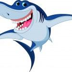 Cartoon funny shark — Stock Vector