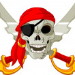 Pirate Skull - Vettoriali Stock
