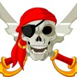 Pirate Skull - Stockvectorbeeld