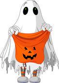 Fantasma truco o trato — Vector de stock