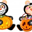 Halloween teddy bear — Stockvector