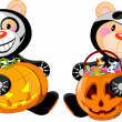Halloween Teddy Bear — Vector de stock #7138946