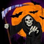 Halloween Grim Reaper background — Stock Vector