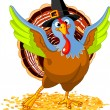 Happy Thanksgiving Turkey — Vector de stock #7138987