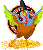 Happy Thanksgiving Turkey — Stock Vector