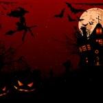 Halloween illustration of haunted house — Stock Vector #7169154