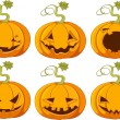 Halloween Pumpkins - Stock Vector