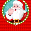Santa Claus pointing — Stock Vector