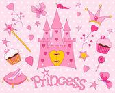 Słodki ikony księżniczka — Wektor stockowy